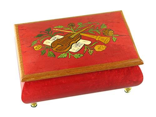 Caja de música para joyas/joyero musical de madera con instrumentos musicales (Ref: 89217): La valse de Amélie Polain – El fabuloso destino de Amélie Polain (Yann Tiersen)