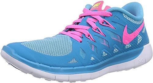 Nike Mädchen Free 5.0 Laufschuhe, Pink (Hot Pink/Black/White), 36 EU