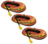 Intex Explorer 200 Inflatable Two Person Raft Set with Oars and Pump, Set of 3