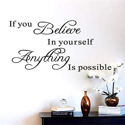 Si crees en ti, utiliza frases para paredes, pegatinas decorativas, vinilo artístico, decoración del hogar, 8037