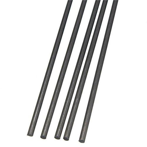 Saver 5pcs 2mm aste in fibra di carbonio 500 millimetri di diametro x da palo opaca rc aereo