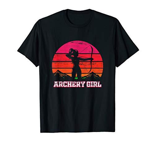 Bogenschützin Geschenk Bogenschießen mit Pfeil und Bogen T-Shirt