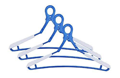 洗濯 物干し ハンガー マイランドリー2 ドライハンガーDX ブルー DX 伸びる肩パット付 3本組入