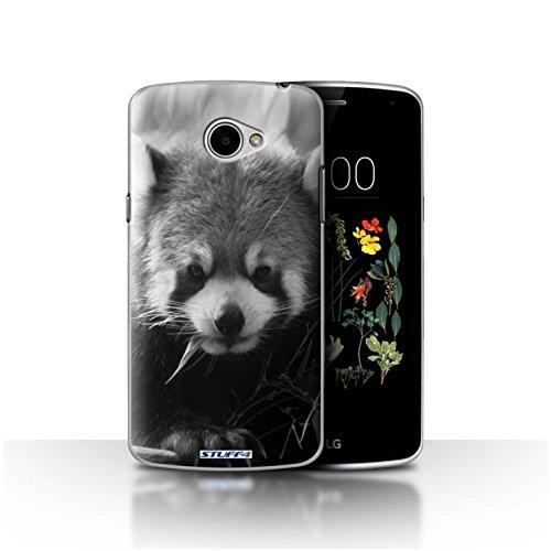 Hülle Für LG K5/X220 Zoo-Tiere Waschbär Design Transparent Ultra Dünn Klar Hart Schutz Handyhülle Hülle