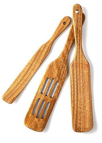 Wooden Spurtles Set, Acacia Spurtles Kitchen Tools Natural Spurtle Utensils, Wood Kitchen Utensils Set Wooden Spatula For Cooking(3)