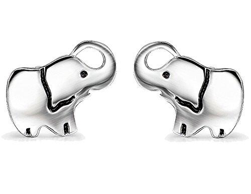 YFN Good Luck Elephant Stud Earrings Sterling Silver Ear Studs for Women Girls