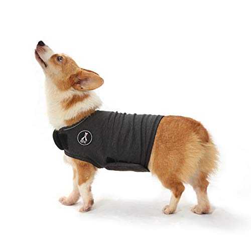 Hundemantel zur Linderung von Angst,leichtes Wickelhelmd für Hunde mit Angstzustände (M, Grau)