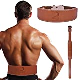 DMoose Fitness Weightlifting Leather Belt for Men and Women, 4 Inch, Posture Corrector for Deadlifts, Squats, Weightlifting, Powerlifting, Bodybuilding, and Great Lower Back and Lumbar Support