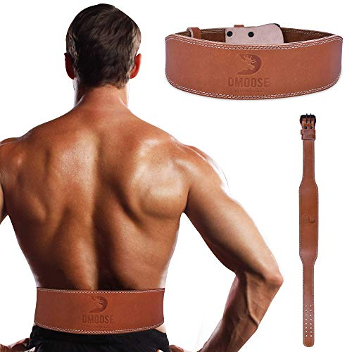 DMoose Fitness Weightlifting Leather Belt for Men and Women