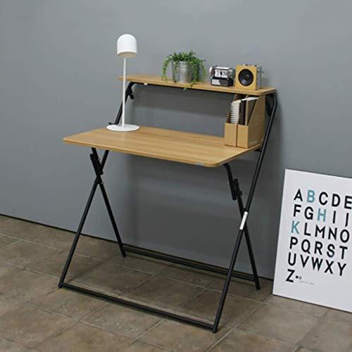 Mesa plegable Plegable de bambú plegable portátil de mesa portátil de escritorio simple mini pequeño del hogar Tabla escritorio de la computadora de escritorio que permite ahorrar espacio de escritori