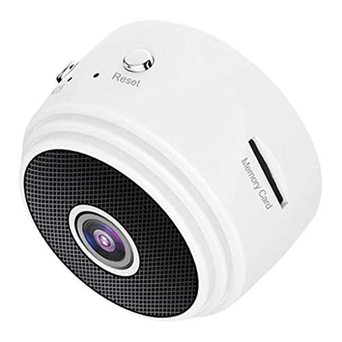 kokiya Videocámara de A9 WiFi Full HD 150 grados de red inalámbrica cámara IP DVR grabadora integrada en bucle Hotspot grabación detección de - Blanco