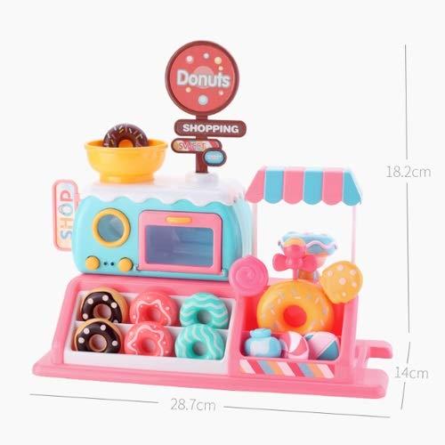 Lihgfw Donut Store Simulation Spielzeug, Anti-Stress-Spielzeug, Shop-Accessoires Candy-Backofen Spielzeug-Set, Kinderspielhaus Spielzeug, reiches Zubehör Baby Geburtstagsgeschenke (Color : Rosa)