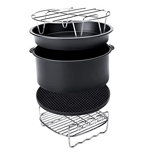 FLAMEER Accesorios para freidora de Aire, Juego de 8 Piezas para Todos los 4,2, 5,3, 5,8, 6, 7, 8QT freidora de Aire, Libre de BPA, aptas para lavavajillas,