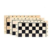 TongLingUSL ボードゲーム 磁気チェスゲーム新しいソリッドウッド折りたたみ高品質チェスボードゲームパネル木製印刷のProfesional Entertainment (Color : ベージュ, Size : 29x29x2.5cm)