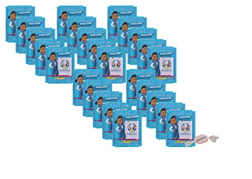 Panini - EURO 2020 Sticker Preview - Sammelsticker - 25 Tüten zusätzlich 1 x Fruchtmix Sticker-und-co Bonbon