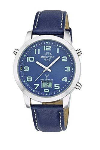 Master Time Funk Quarz Herren Uhr Analog-Digital mit Leder Armband MTGA-10458-32L