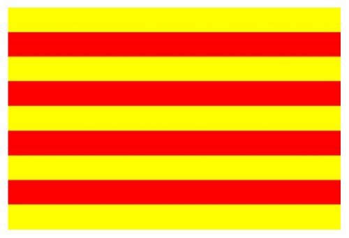 Catalonië Vlag (Spanje) 5Ft x 3FT