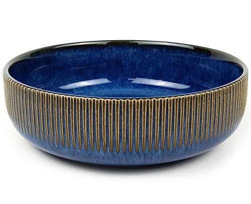 Ceramic Salad Pasta Bowl Porcelain Cereal Dessert Bowl Fruit Serving Bowl 7.2'