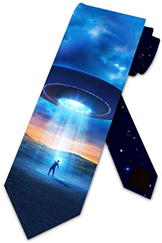 Space Ties Mens Outer Space Alien Abduction Necktie by Three Rooker