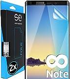 smart engineered [2 Stück] 3D Schutzfolien kompatibel mit Samsung Galaxy Note 8, hüllenfre&liche durchsichtige HD Bildschirmschutz-Folie, Schutz vor Dreck & Kratzern, kein Schutzglas