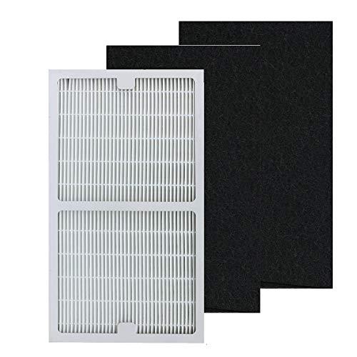 Filters C Compatible Idylis Air Purifier IAP-10-200 & IAP-10-280, Part # IAF-H-100C - 1 pcs HEPA Filter & 2 Carbon Filters