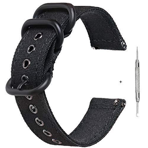 Zeit Diktator correa de reloj de liberación rápida 18 mm 20 mm 22 mm 24 mm correa de reloj inteligente de lona para hombres y mujeres