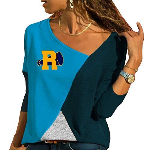 Riverdale Mujer Camisetas de Manga Larga Casuales Tshirt Patchwork Blusas Hipster Camisa Personalizadas Túnica Suelto Tops