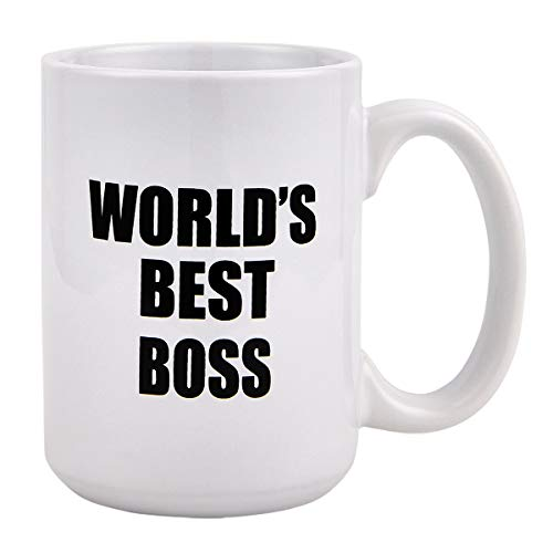 Funny Coffee Mug, World's Best Boss Coffee Tea Cup, Funny Mug Novelty...
