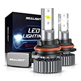 SEALIGHT 9004/HB1 LED Headlight Bulbs, 60W 12000LM High Low Beam Conversion Kit, 6000K Xenon White, Halogen Replacement, Quick Installation