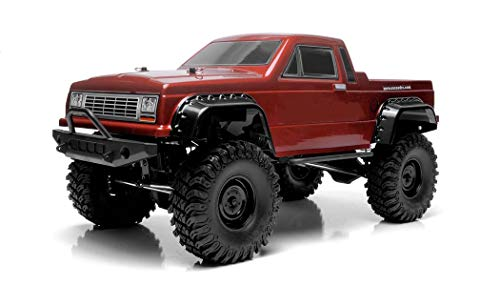 Exceed RC Rock Crawler Car 1/10 Scale 2.4Ghz MadVolt 4WD Electric Remote Control RTR Ready to Run w/ Waterproof Electronics (Red)