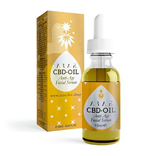 ARAE CBD - Aceite Serum 10ml (2.5% de CBD) - Aceite para la Piel 100% natural - Hecho a base de Aceite de Semillas, Extracto de Cáñamo Orgánico y Cannabidiol