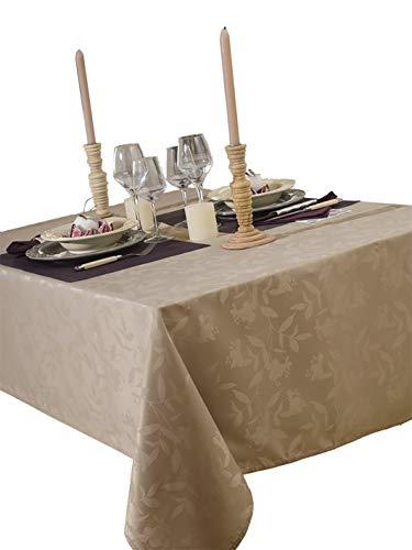 CALITEX Tischdecke Damassee Ombra Taupe 150x 350