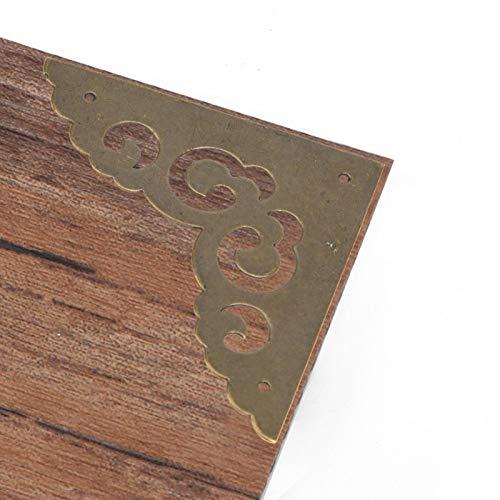 Protector de esquina 5 piezas de bronce antiguo cubierta de borde de...