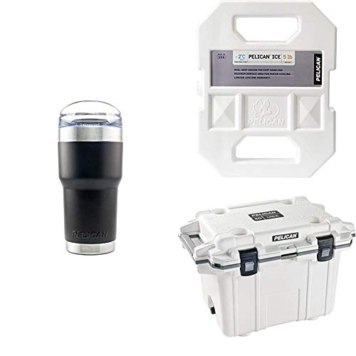 Pelican Elite 50 Quart Cooler Bundle (White)
