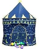 Príncipe o princesa de verano Palacio Castillo Niños niños Jugar Casa de la tienda de interior o al aire libre juguete del jardín Wendy casa teatro playa sol tenencia niños niñas (Príncipe Azul)