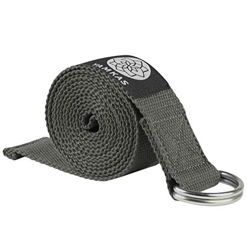 Yamkas Yoga Band Bomull (183 cm, Dark Grey)
