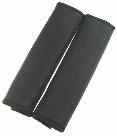 Protecteur de sangle ceinture 1 paire de protège-ceinture 2 en cuir véritable noir