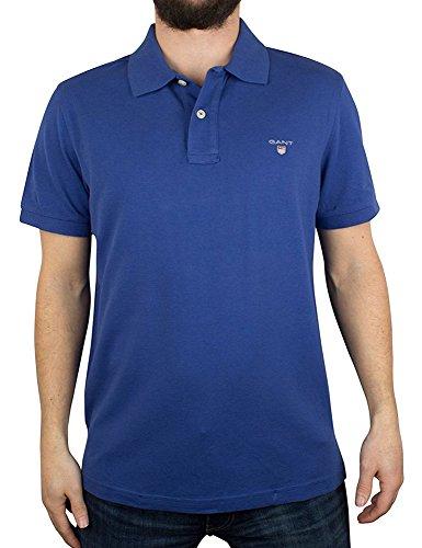 GANT The Original Pique SS Rugger Polo, Bleu (Yale Blue 436), L Homme