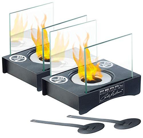 Carlo Milano Deko-Feuer: 2er-Set Mini-Dekofeuer für Bio-Ethanol (Design-Deko-Feuer)