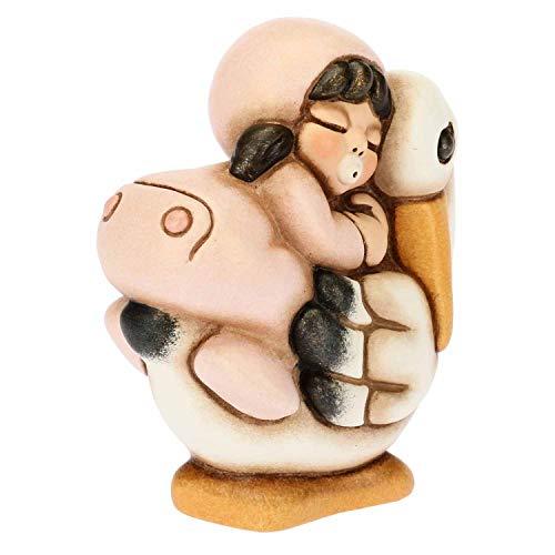 THUN - Bimba a Cavallo della Cicogna - Bomboniera e Soprammobile - Formato Piccolo - Ceramica - 5,4 x 3,5 x 6,2 h cm
