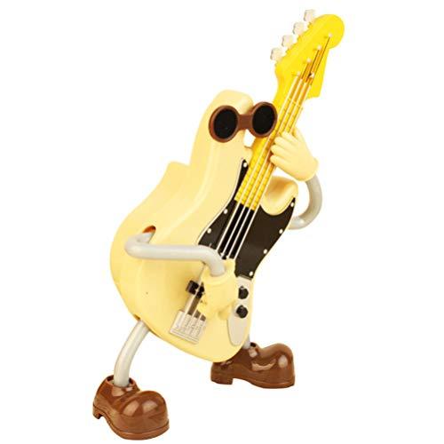 WINOMO Spieluhr Gitarre Bass Spielen Mann Neuheit Kunststoff Mini Wind Up Spieluhr Musikbox Mechanismus Spieluhr Spielzeug für Kinder Geburtstag Neujahr Geschenk