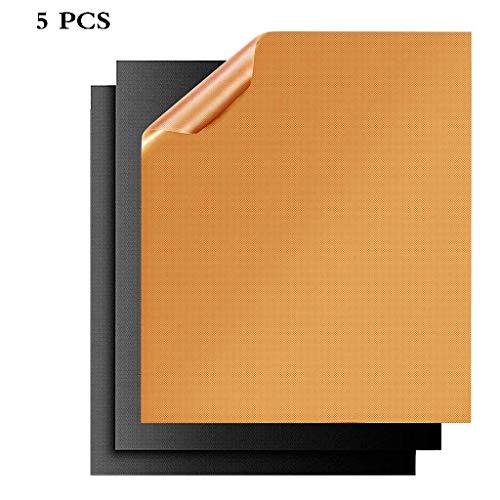 Antihaft-Grillmatte Grill Backblech Wiederverwendbare Teflon-Grillplatte Hitzebeständigkeit 40 * 33 Cm Küchengeräte 5 PCS