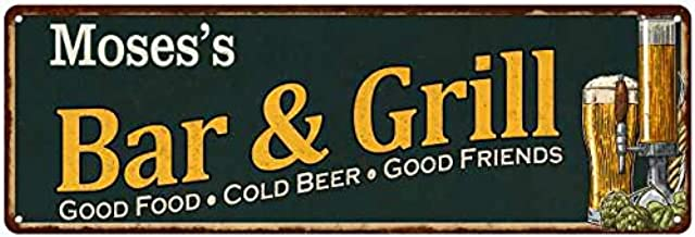 Chico Creek Signs Moses's Bar and Grill Personalized Sign Man Cave Decor 8x24 Gift 108240055212