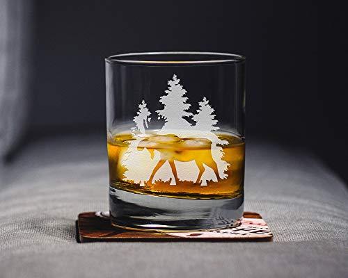 Elch Whiskey Glas Elch Glas Elch Geschenk Elch Hochzeit Geburtstag Party Weihnachten Abschluss Weinliebhaber