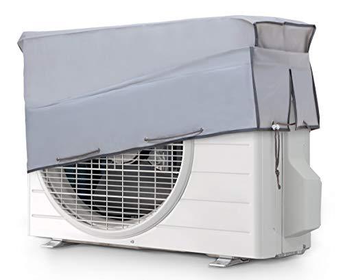 SMART-T-HAUS - Fodera Protettiva per condizionatore, per Esterno, Impermeabile, Doppio Tessuto e Protezione UV, Grigio, 90 x 55 x 30 cm
