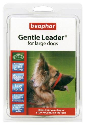 beaphar Gentle Leader Hundehalfter, Größe L, rot