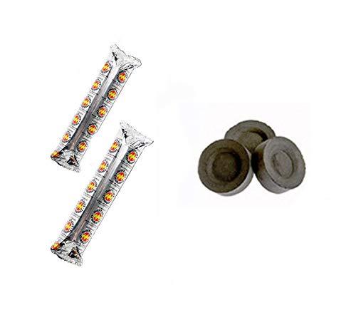 Paquete de 20 discos de carbón para pluma de carbón Shisha Pipa cachimba Bakhoor Carbón Pen Discs Rolls Tablets Sheesha Nakhla