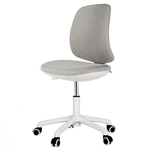 Peaceip Linge de chaise de bureau respirant de personnalité de mode avec la chaise de rédaction de repos de pivot de taille réglable et de repos de dos (Couleur : Light grey, taille : Pedal)