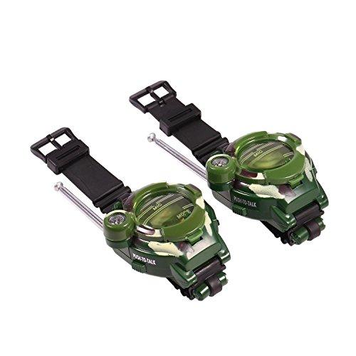 begorey Kinder Walkie Talkies Armbanduhr 7 in 1 Walky Talky Set Indoor Interphone Camo Armee Outdoor Spielen Spielzeug Reichweite 100m (2 Pack)