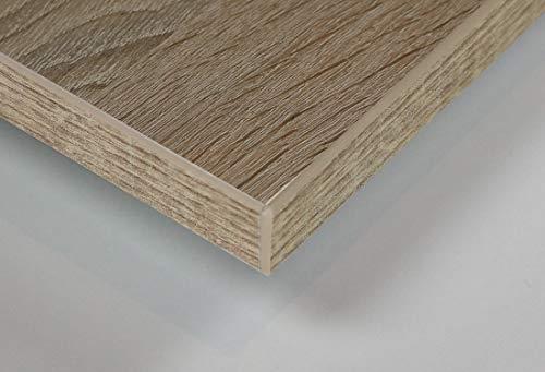 MySpiegel.de Tischplatte Holz Zuschnitt nach Maß Beschichtete Holzdekorplatte (40 x 40 cm, Sonoma Eiche)